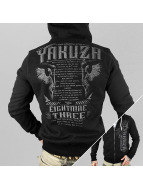Yakuza Zip Hoodie commantments svart