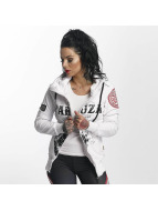 Yakuza Zip Hoodie Daily Skull High Neck Zip white