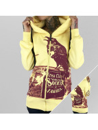 Yakuza Zip Hoodie Crow yellow