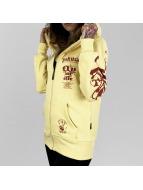 Yakuza Zip Hoodie Fly or Die yellow