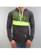 Yezz Hoody Typhoon Slim Fit grau