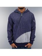 Yezz Sweat à capuche zippé Side bleu