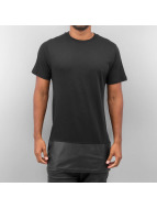 Yezz T-Shirt PU Leather Mix schwarz