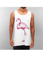 Yezz Tank Tops Flamingo weiß