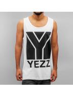 Yezz Tank Tops Big Logo weiß