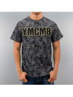 YMCMB T-Shirt Allover Kush gris