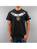 YMCMB T-Shirt Curved Logo schwarz