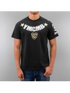 YMCMB t-shirt Curved Logo zwart