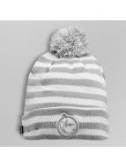 Yums Beanie Knit Stripe šedá