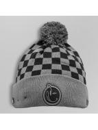 Yums Berretto di lana Pom Checkered nero