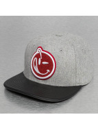 Yums Classic Melton Snapback Cap Grey/Black/Red/White