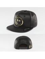 Yums Snapback Caps 2Tone Metal Face svart