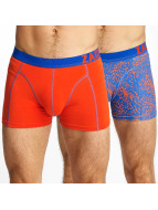 Zaccini Boksershorts Summer Spray 2-Pack red