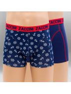 Zaccini Boxershorts Nautical 2-Pack blau