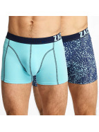 Zaccini Boxershorts Summer Spray 2-Pack blau